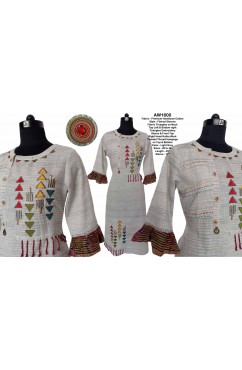 Embroidered Handloom Cotton Kurti