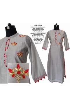 Chanderi Straight Kurta