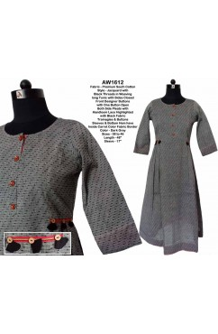 South Cotton Jacquard Long Tunic