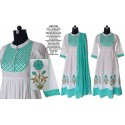 Cotton Frock Style Dress with Lahariya Dupatta