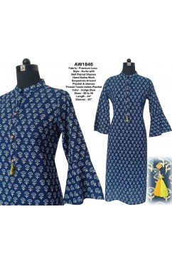 Bell Flaired Sleeves Kurta
