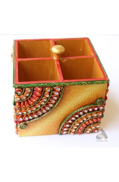 Handmade Papermache Cutlery Box Square shape
