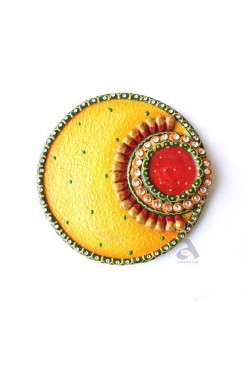 Silver/Gold Coins Gift Plate Round