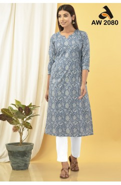 Young Looks Floral Jaal Kurta