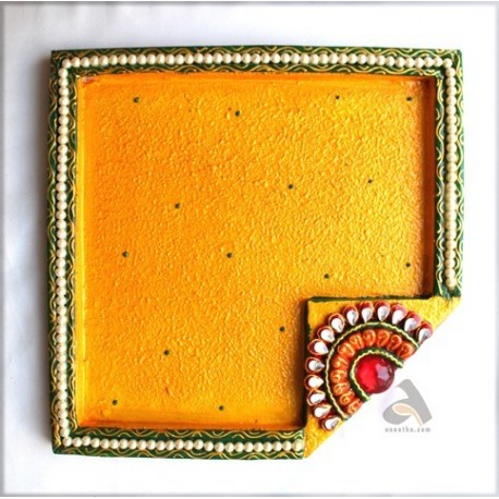 Papermache Pooja Plate Triangle