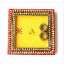 Papermache Pooja Plate Square