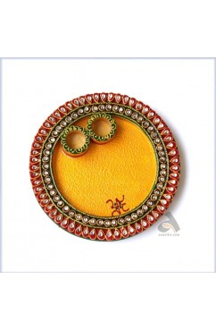 Papermache Pooja Plate Round