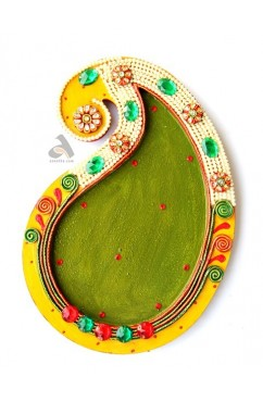 Papermache Pooja Plate Kairy design Big