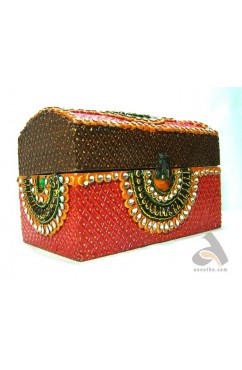 Handmade Papermache Box - Rectangle Sandook