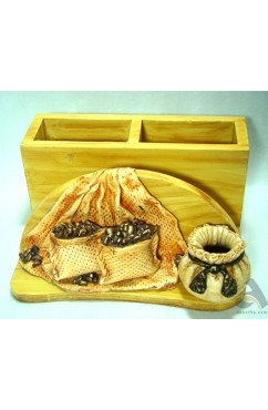 Handmade Papermache Pen Stand Coffee Bag design
